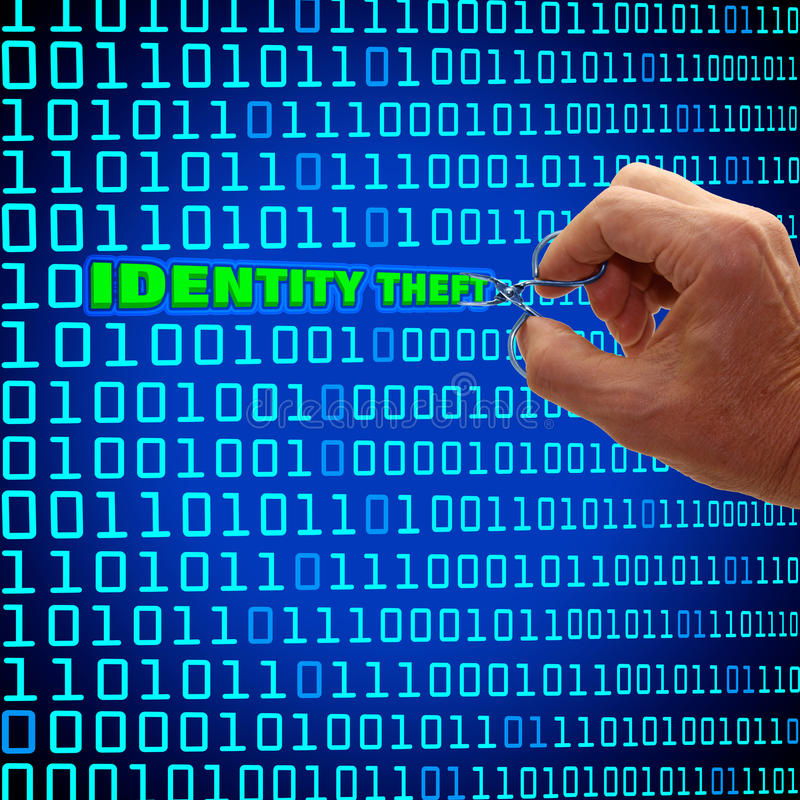 Concetto di furto di identità illustrazione di stock