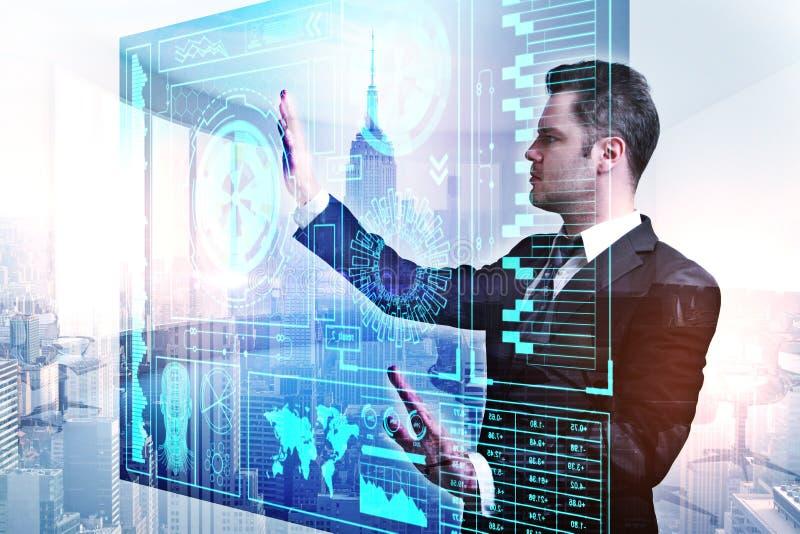 Concetto di futuro, di comunicazione e della rete immagini stock libere da diritti