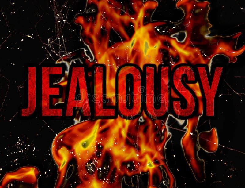 Concetto di gelosia illustrazione di stock