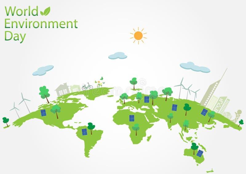Concetto di Giornata mondiale dell'ambiente illustrazione vettoriale