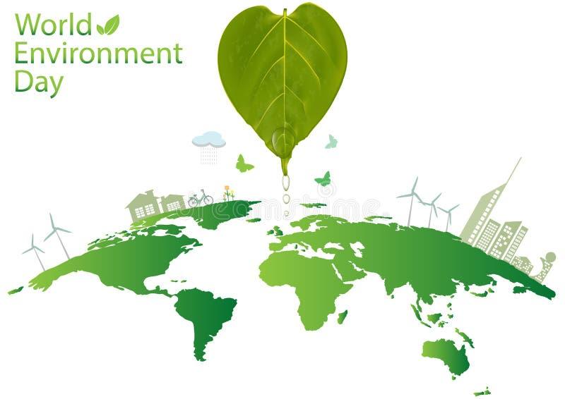 Concetto di Giornata mondiale dell'ambiente illustrazione di stock