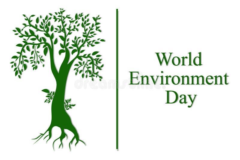 Concetto di Giornata mondiale dell'ambiente Illustrazione di vettore illustrazione vettoriale