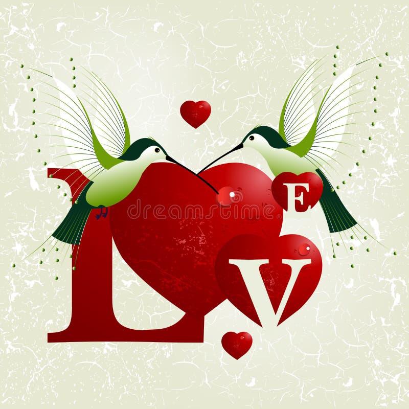 Concetto di giorno del biglietto di S. Valentino illustrazione vettoriale