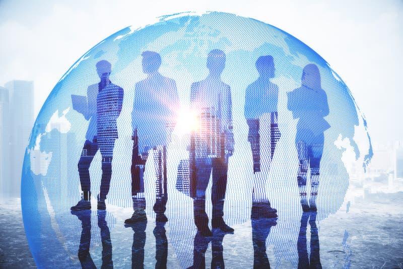 Concetto di globalizzazione e di affari globali fotografie stock