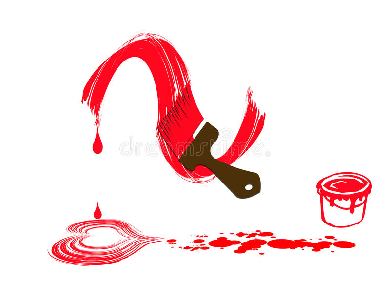 Concetto di goccia di colore di acqua del cuore illustrazione vettoriale