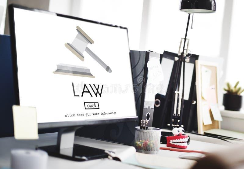 Concetto di Governance Legal Judge dell'avvocato di legge immagine stock libera da diritti