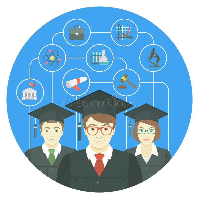 Concetto di graduazione royalty illustrazione gratis