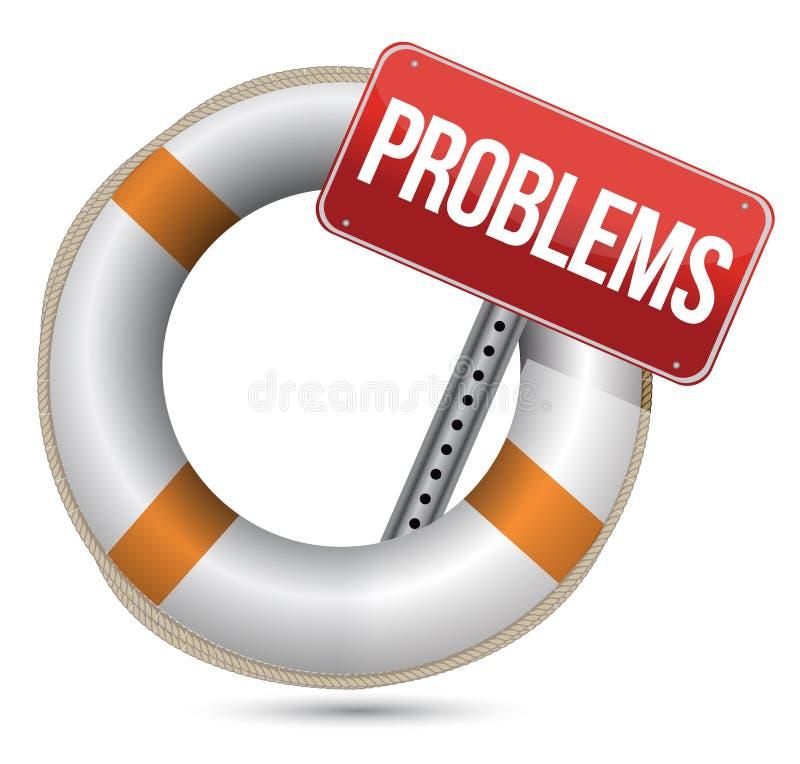 Concetto di guida di problemi. royalty illustrazione gratis
