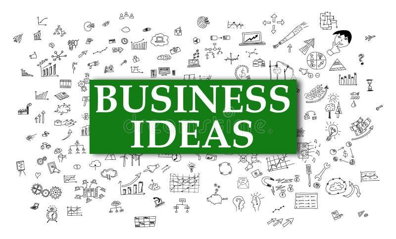 Concetto di idee di affari su fondo bianco illustrazione di stock