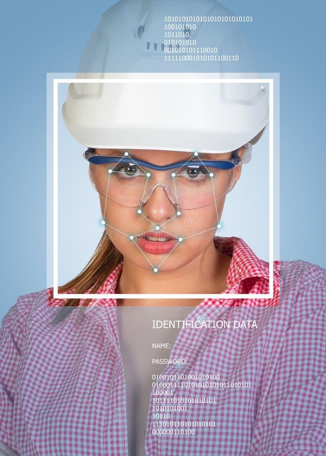 Concetto di identificazione di persone Costruttore sexy dentro fotografia stock