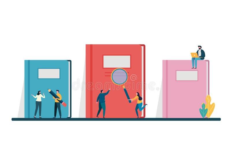 Concetto di immaginazione dei libri aperti Giorno del libro del mondo, il 23 aprile istruzione, consultantesi, istituto universit illustrazione di stock