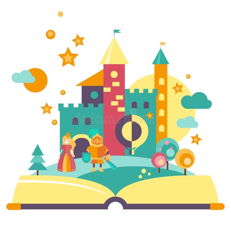 concetto di immaginazione libro aperto illustrazione