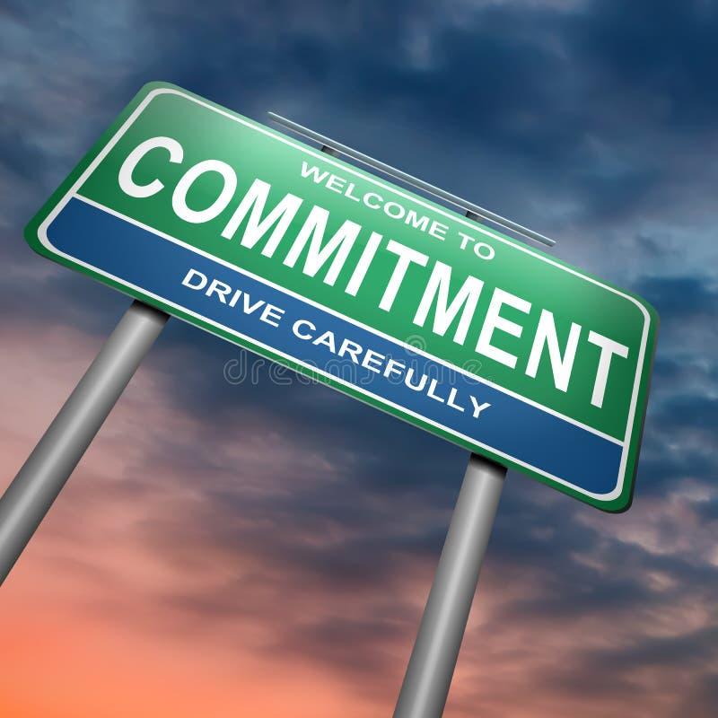 Concetto di impegno. royalty illustrazione gratis