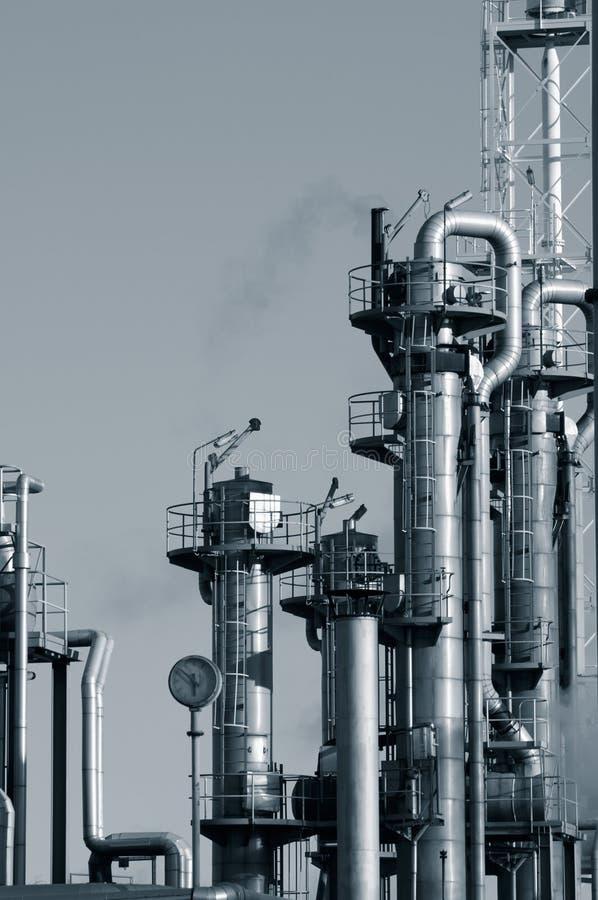 Concetto di industria del gas e del petrolio immagini stock