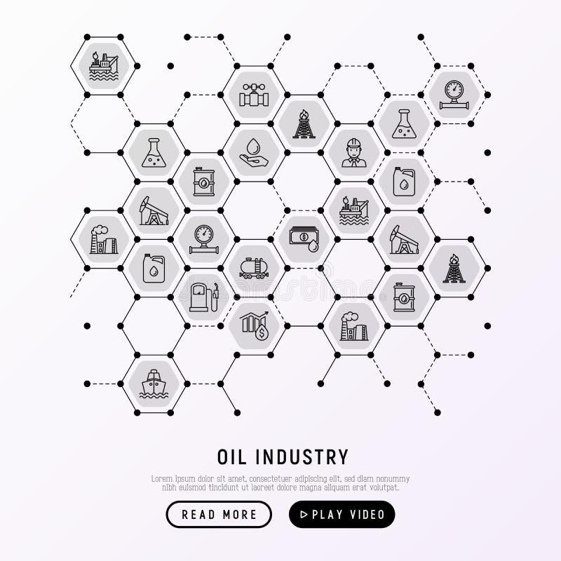 Concetto di industria petrolifera in favi illustrazione vettoriale