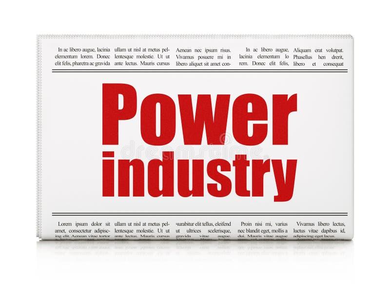 Concetto di industria: settore produzione energia del titolo di giornale illustrazione di stock