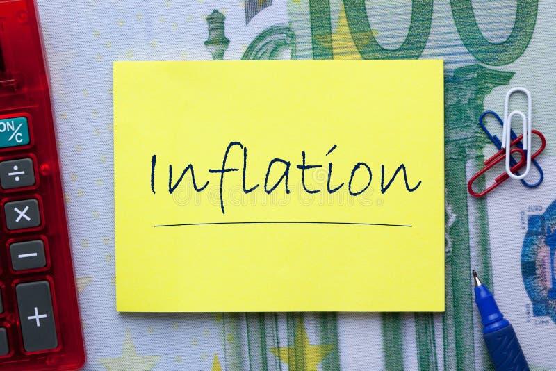 Concetto di inflazione di parola immagine stock libera da diritti