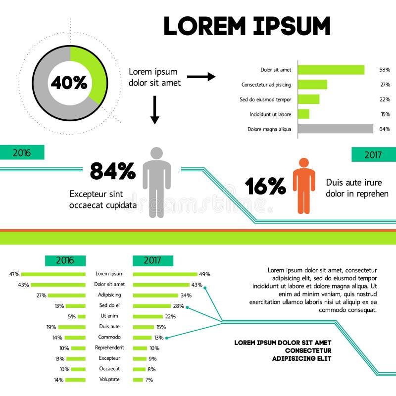Concetto di Infographic - schema Statistiche progettazione grafica, illustrazione di vettore illustrazione di stock