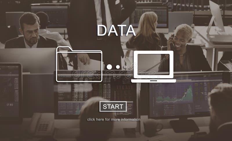 Concetto di informazioni di sistema di analisi della base di dati di dati immagini stock