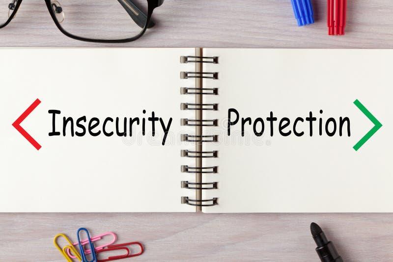 Concetto di insicurezza di protezione immagini stock