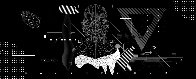 Concetto di intelligenza artificiale illustrazione di stock