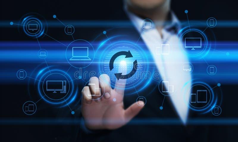 Concetto di Internet di tecnologia di affari di aggiornamento di programma del software dell'aggiornamento fotografie stock
