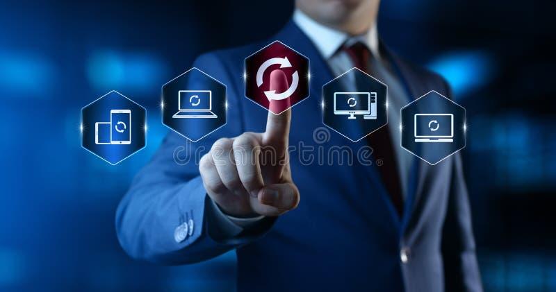 Concetto di Internet di tecnologia di affari di aggiornamento di programma del software dell'aggiornamento immagini stock