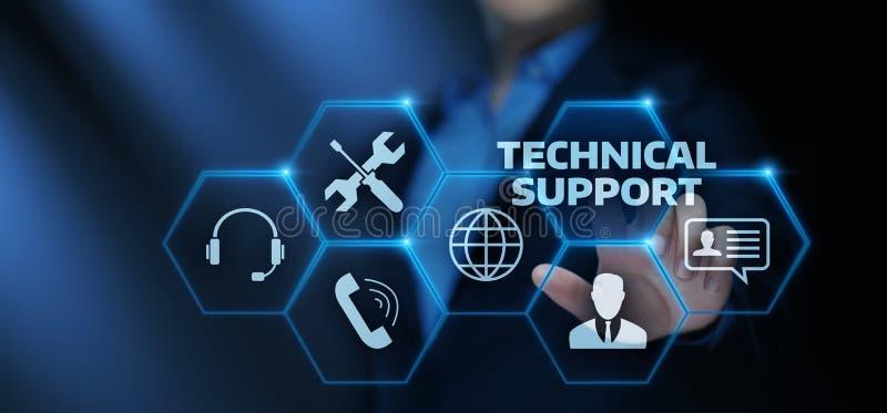 Concetto di Internet di tecnologia di affari di servizio di assistenza al cliente del supporto tecnico illustrazione di stock