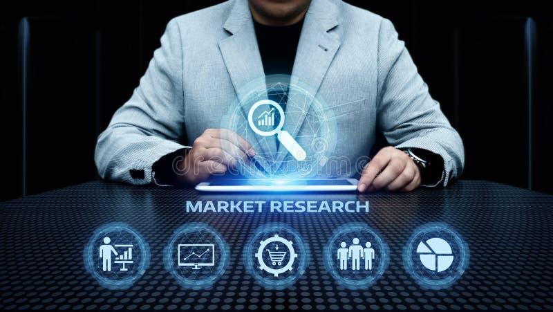 Concetto di Internet di tecnologia di affari di strategia di marketing di ricerca di mercato immagini stock