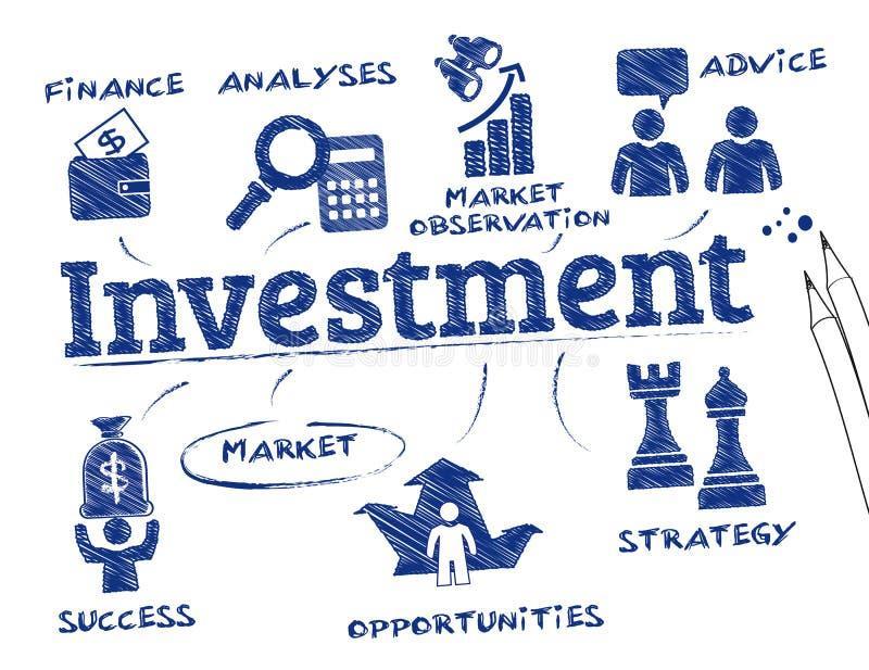 Concetto di investimento illustrazione di stock