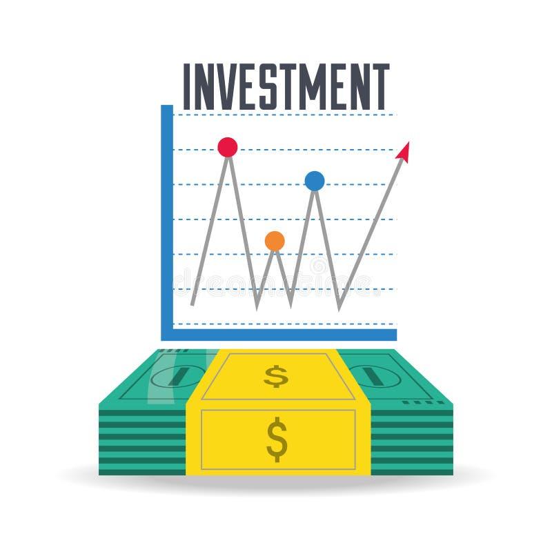 Concetto di investimento dei contanti e del grafico di Bill royalty illustrazione gratis