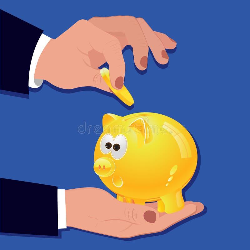 Concetto di investimento dei soldi, illustrazione di vettore illustrazione vettoriale