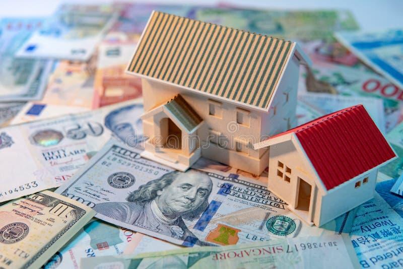 Concetto di investimento della proprietà o del bene immobile fotografie stock