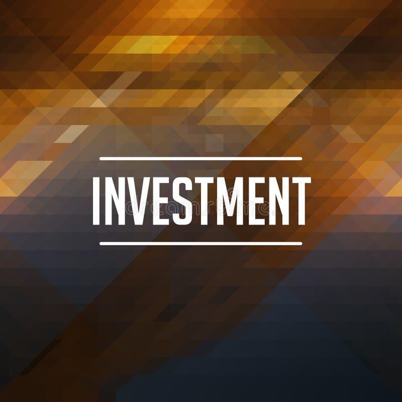 Concetto di investimento Retro disegno del contrassegno illustrazione di stock