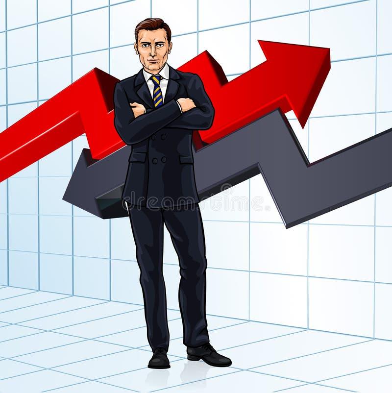 Concetto di Investment Financial Advisor dell'uomo d'affari royalty illustrazione gratis