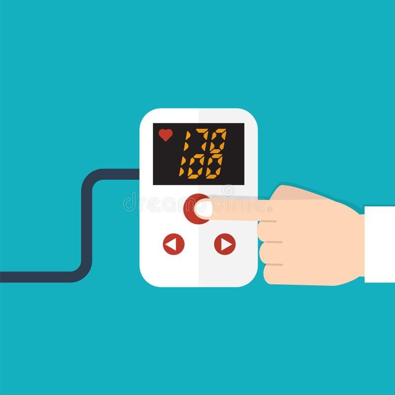 Concetto di ipertensione Illustrazione di vettore illustrazione di stock