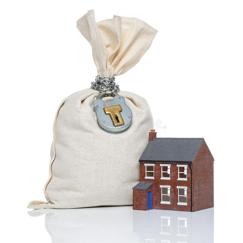 Concetto di ipoteca di acquisto di una casa immagine stock for Aprire case di concetto