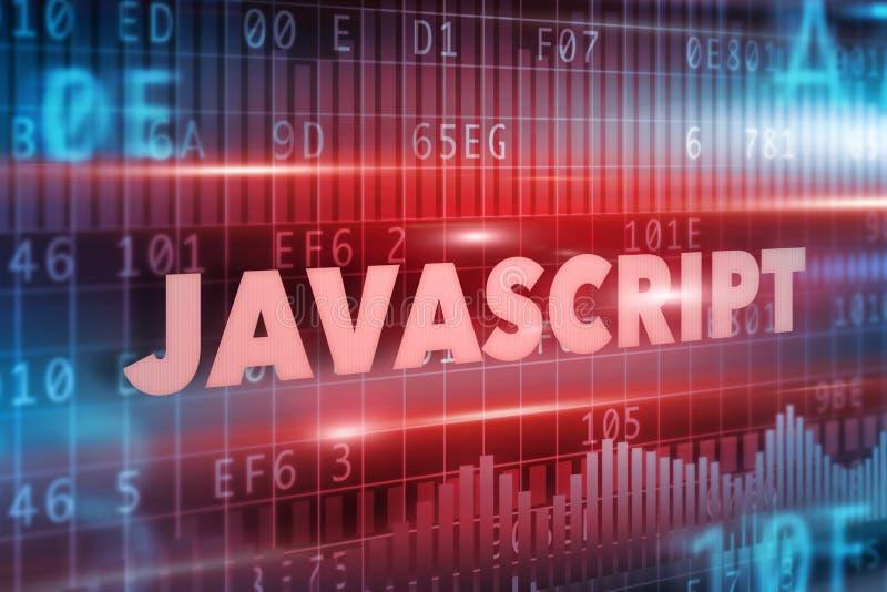 Concetto di Javascript illustrazione di stock