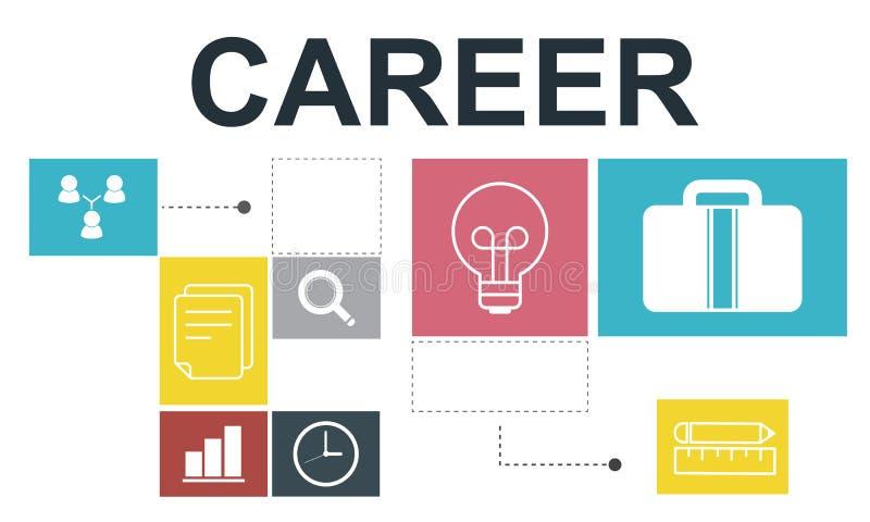 Concetto di Job Opportunites Motivation Employment Competence royalty illustrazione gratis