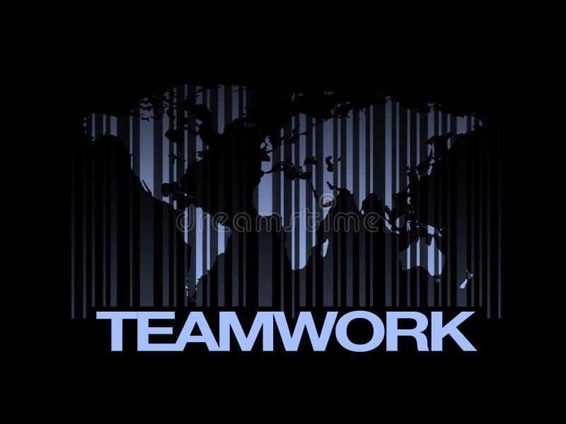 Concetto di lavoro di squadra del mondo di istruzione del codice a barre illustrazione di stock