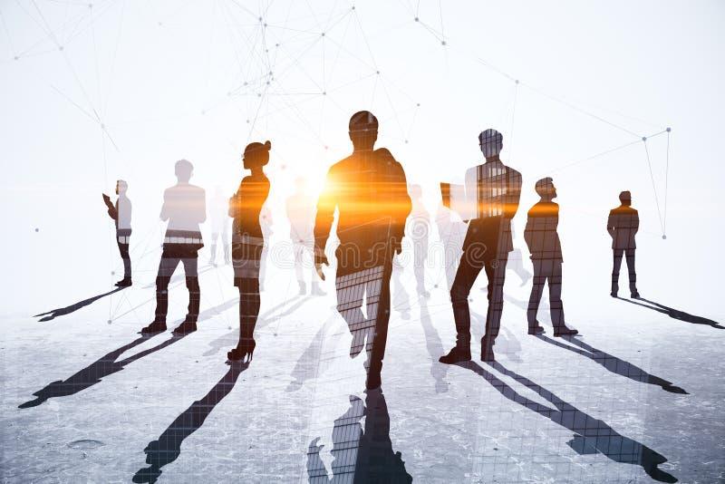 Concetto di lavoro di squadra, di riunione e della rete immagini stock libere da diritti