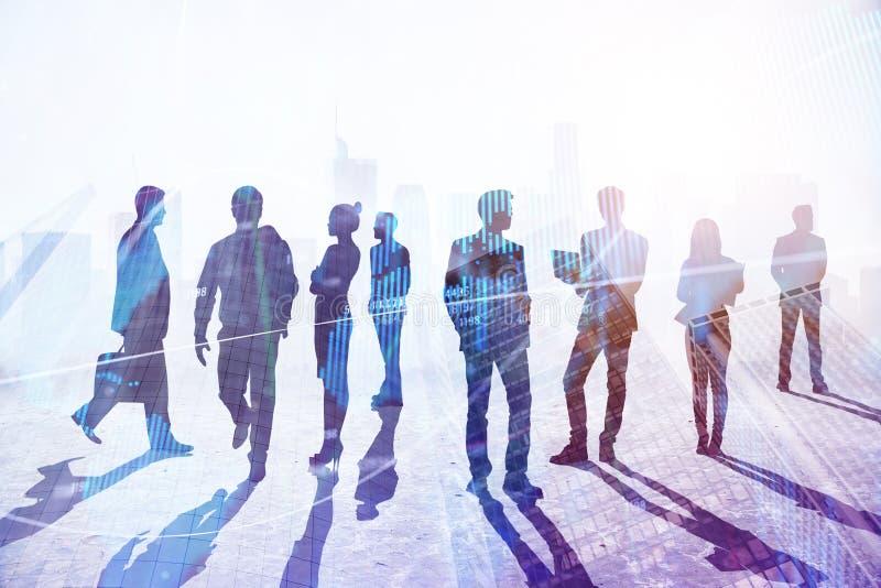 Concetto di lavoro di squadra, di successo e di occupazione immagine stock
