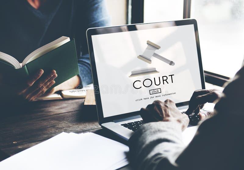 Concetto di Law Legal Order del giudice di crimine di autorità della corte fotografia stock