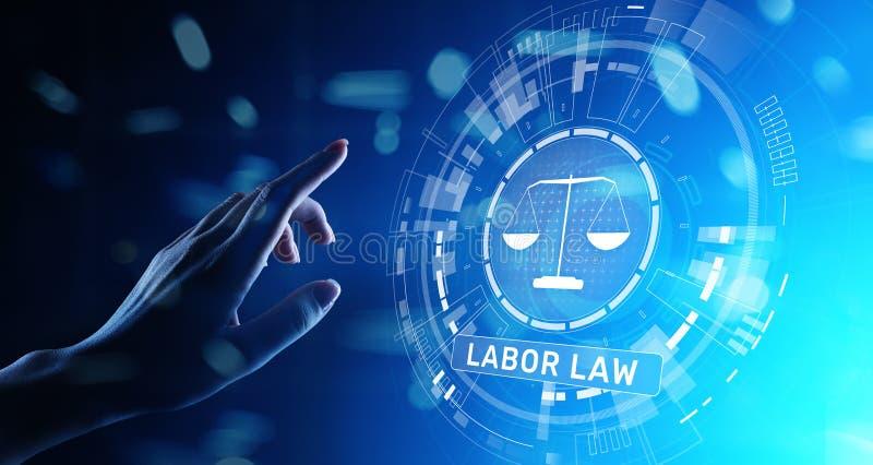Concetto di Legal Business Consulting dell'avvocato di diritto del lavoro fotografie stock libere da diritti