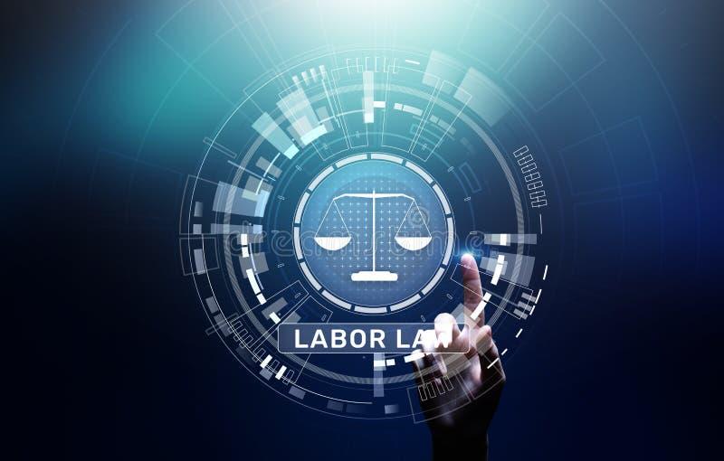 Concetto di Legal Business Consulting dell'avvocato di diritto del lavoro immagini stock libere da diritti
