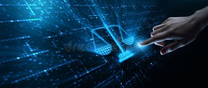 Concetto di Legal Business Technology dell'avvocato di diritto del lavoro fotografia stock