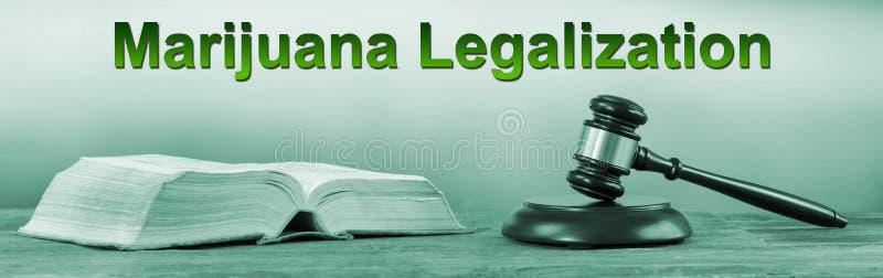 Concetto di legalizzazione della marijuana fotografia stock libera da diritti