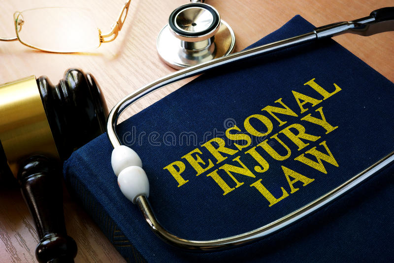 Concetto di legge della ferita personale immagine stock