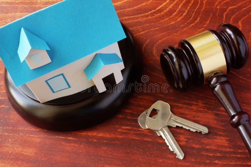 Concetto di legge di Real Estate fotografia stock libera da diritti