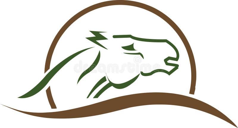Concetto di logo del cavallo royalty illustrazione gratis